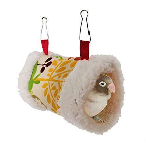 Casa De Nido De Pájaros Cobertizo De Felpa Colgando Hamaca Túnel Nido Invierno Cálido Swing Cage For Birds Loro Hamster Ardilla