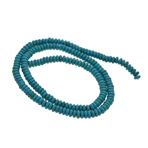 joyMerit Collar de Suministro de Manualidades de Abalorios con Cuentas Espaciadoras Sueltas de Piedras Preciosas Naturales de 1 Hebra - Azul, Individual