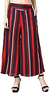Fraulein Women's/Girl's Palazzos Printed Soft Crepe Wide Bottom Flared Sharara Style Palazzos/Trouser with One Pocket and ...