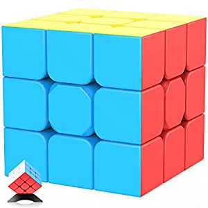 Speed Cube 3x3x3 Jurnwey Stickerless with Cube Tutorial - Turning Speedly Smoothly Magic Cubes 3x3 Puzzle Game Brain Toy for Kids and Adult from Jurnwey