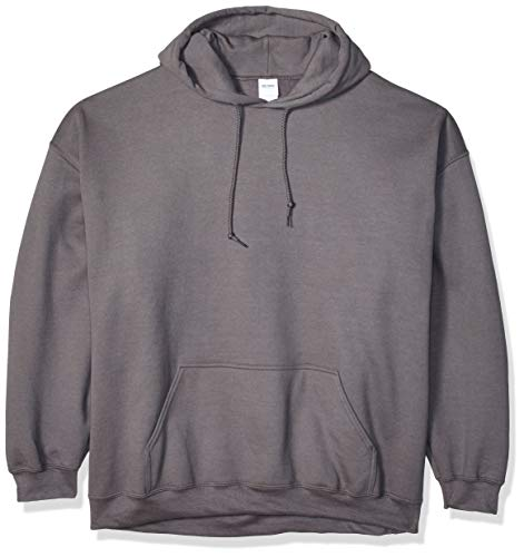 Gildan Men's Heavy Blend Fleece Hooded Sweatshirt G18500, Charcoal, X-Large