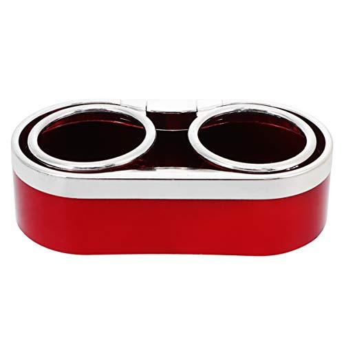Wakauto - Soporte doble para botellas de coche (rojo)