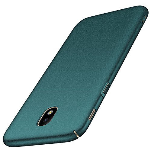 Anccer Kompatibel mit Samsung Galaxy J5 2017 Hülle, [Serie Matte] Elastische Schockabsorption & Ultra Thin Design (Kies Grün)