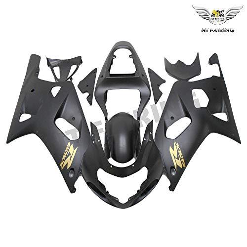 New Matte Black Fairing Fit for SUZUKI 2001 2002 2003 GSXR 600 750 Injection Mold ABS Plastics Aftermarket Bodywork Bodyframe GSX-R 600/750 01 02 03