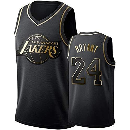 FYPARF Camiseta De Baloncesto para Hombres # 24 Camiseta De Kobe Bryant Lakers Camiseta Sin Mangas Unisex De Malla Bordada Camiseta De Baloncesto Swingman Top Chalecos Sin Mangas Bordados (A,L)