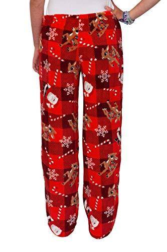 Disney Women's Ultra-Soft Character Plush Drawstring Pajama Pant, Frozen's Rudolph