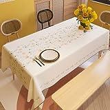 XXDD Nappe à Motif de Fleurs et de plantes en Lin de Coton de ménage, Nappe rectangulaire à Manger, canapé de Table, Couverture en Tissu décorer A8 140x160 cm