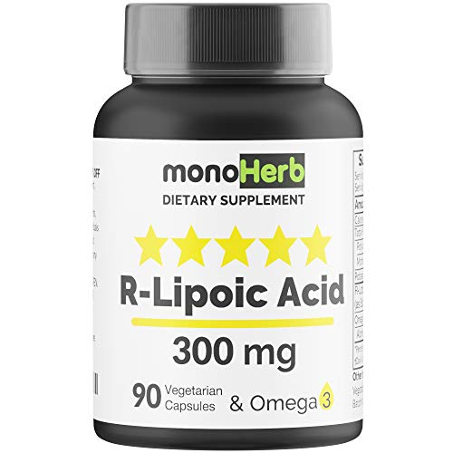 R-Lipoic Acid 300 mg - 90 Vegetarian Capsules - Stabilized R-Alpha-Lipoic Acid