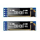 MakerHawk 2pcs I2C Display Module 0,91 Pollici I2C SSD1306 Display OLED Module I2C White S...