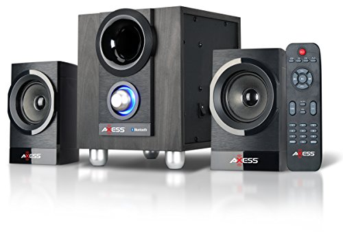 AXESS MSBT3907 2.1 Bluetooth Micro Sound System with FM and USB, SD Card, RCA Inputs