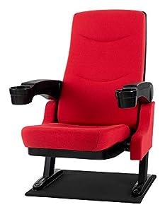 Stagecaptain CS-600R Movieking Kinosessel (Relaxsessel, klappbarer Sitz, 2 x Armlehne mit Getränkehalter, Bodenplatte) rot