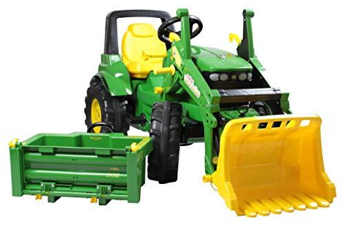 Rolly Toys 710379 Tractor John Deere 7930 (tractor 3-8 jaar met frontlader, transportbak, schakeling, rem), groen