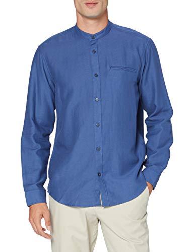 ESPRIT Herren 080EE2F304 Hemd, 420/GREY Blue, XS