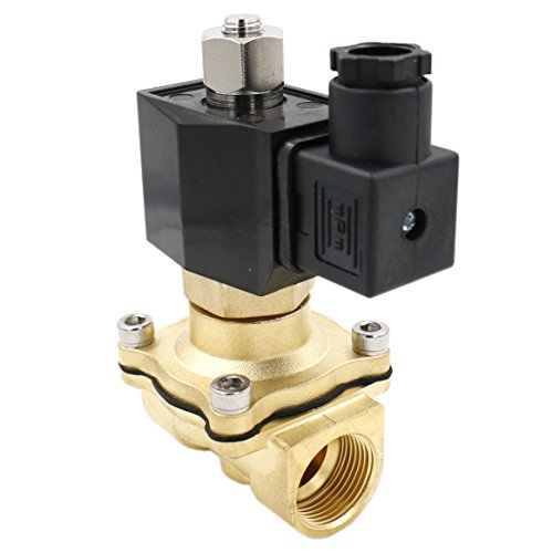 Heschen Elektrisches Magnetventil aus Messing, 2WK200-20 PT 3/4 AC 220 V, direkte Wirkung, Wasser, Luft, Gas, normal geöffnet