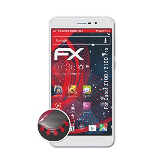 atFolix Schutzfolie kompatibel mit Cubot Z100 / Z100 Pro Folie, entspiegelnde & Flexible FX Bildschirmschutzfolie (3X)