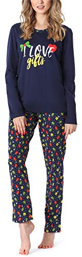 Merry Style Damen Schlafanzug MS10-169 (Marine Geschenk, XL)