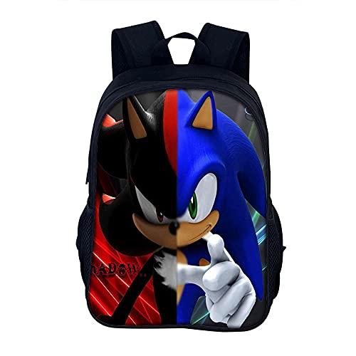 Sonic Mochila escolar 3D Anime Mochila escolar para niños y niñas, mochila de doble capa, A1., large,