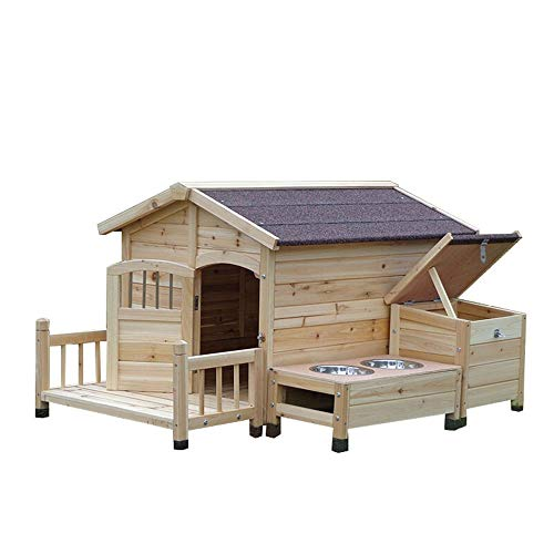 MDYYD Outdoor Wooden Dog Mansion