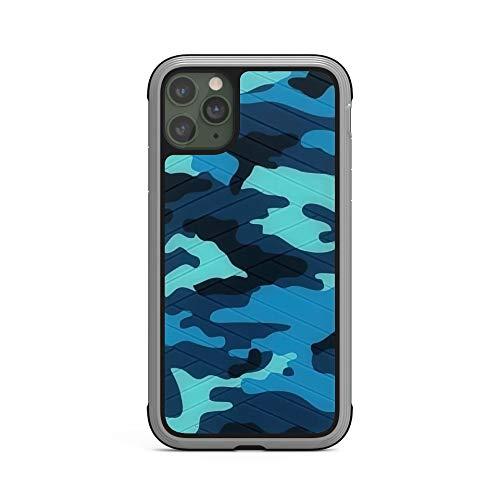 RUNEEE Patrón de Camuflaje Caja del teléfono móvil for IPhone11 11 Personalidad Simple Camuflaje Textura de TPU Nuevo teléfono móvil Pro MAX Anti-caída (Color : Blue, Size : iPhone 11 Pro MAX)