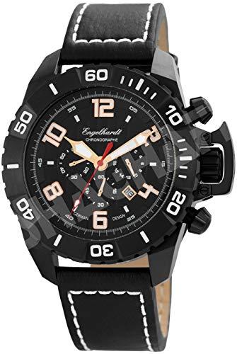 Engelhardt Herren Analog Mechanik Uhr mit Leder Armband 388971029003