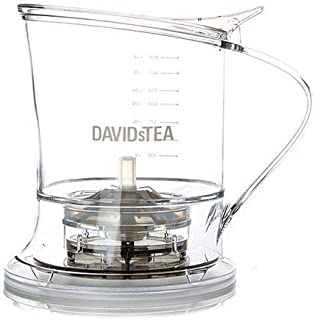 DAVIDsTEA Tea Steeper for Loose Tea with Lid, Bottom Dispensing Tea Infuser (36 oz / 1 L)