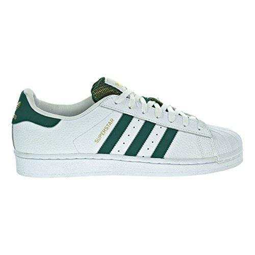 Adidas Herren-Sneaker Originals Superstar Foundation, Weiß - Weiß Grün Gold Metallic - Größe: 49 1/3 EU