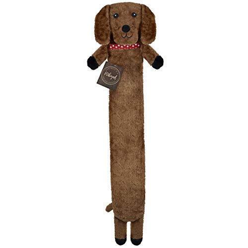 Extra Long Hot Water Bottle – Super Soft Novelty Plush Cover – Natural Rubber for Longer Heat and BPA Free – Perfect for Pain Relief on Aches or Injuries (Sausage Dog)