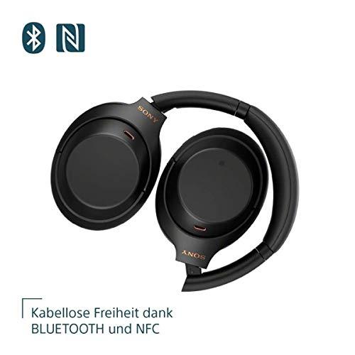 Sony WH-1000XM4 kabellose Bluetooth Noise Cancelling Kopfhörer, Schwarz + TP-Link UB400 Nano USB Bluetooth 4.0 Adapter Dongle