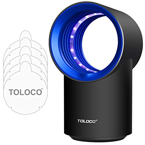 TOLOCO Indoor Insect Trap  Zap T3 Pro Mosquito TrapUSB Powered UV Lamps  For BugFruit FlyMothsMosquito killer  No Zapping Noise NonToxic Black/Blue