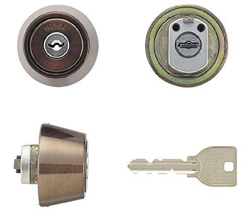MIWA(美和ロック) U9シリンダー LZ-1タイプ 鍵 交換 取替え LZ1 MCY-120 LZ/LZSPセラミックブロンズ色(CB)28〜34mm