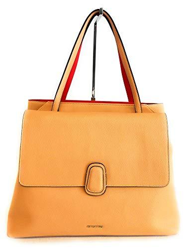 Cromia Damen Handtasche Shopping Leder 1404216 Farbe Creme Maße 38 x 28 cm