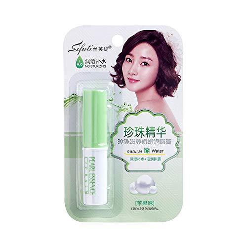 ETbotu Pearl Moisturizing Lipstick Feuchtigkeitsspendender transparenter farbloser Lipgloss Apfel