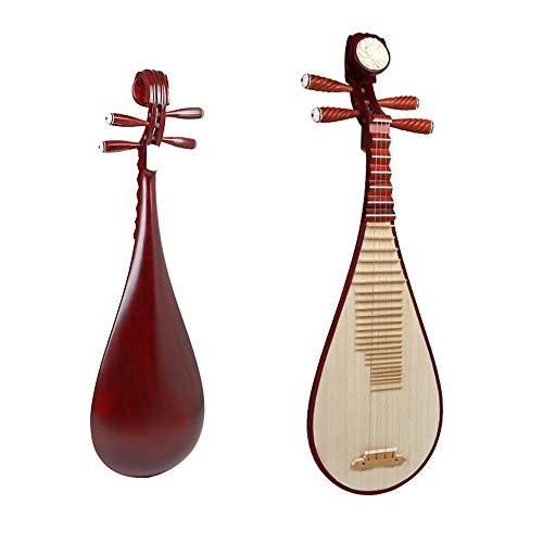 木材で作られた初心者用の琵琶、アップグレードされたねじ式滑り止めシャフト、細かいピッチ、良い銀、快適な手触り、耐久性