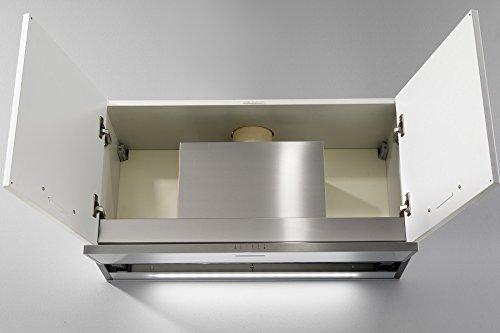 Galvamet/SLIVER 60/A/EEK A/Einbau Dunstabzugshaube/speziell für Induktion Kochfelder/patentierte Kondenswasser-stop System/für Wandschränke 60 cm/ECO LED Leiste / 100prozent made in Italy
