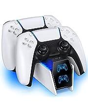 PS5 コントローラー 充電 OIVO 2台同時充電可能 デュアル急速充電 指示LED付き USB-Cケーブル付 PS5 充電 収納 スタンド 置くだけで充電できる