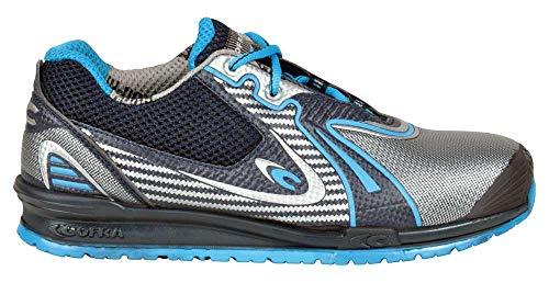Zapatos de Seguridad Goleada, Color Gris y Azul, 78680-000.W41, Talla 41, S3 SRC, de Cofra