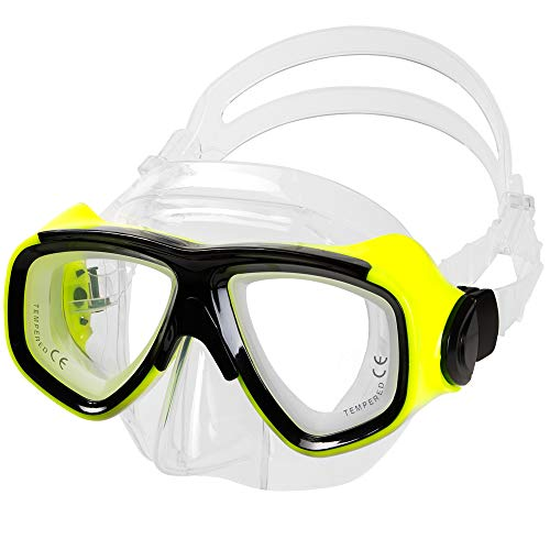 IST M80 2 Lens Snorkel Diving Mask with Optional Prescription Lenses