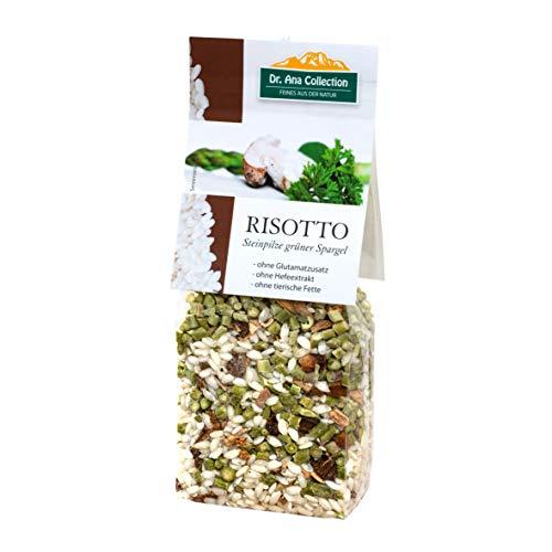 Dr. Ana Collection - Risotto Reis mit Steinpilzen und grünem Spargel 200g (1 Beutel) - auch erhältlich als 1 bis 7 Beutel