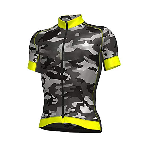 HXTSWGS Conjunto Ropa Ciclismo Hombre Verano,Pro Team Cycling Jersey Men Short Sleeve MTB Riding Bicycle Sports Clothing-A11_L