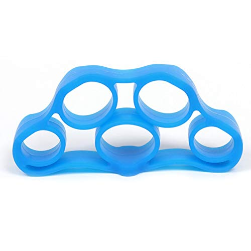 Biyi tragbare Fitness Hand Finger Trainer Band Spannung Werkzeug krafttrainer Muscle Power silikon Expander Training Recovery (blau)