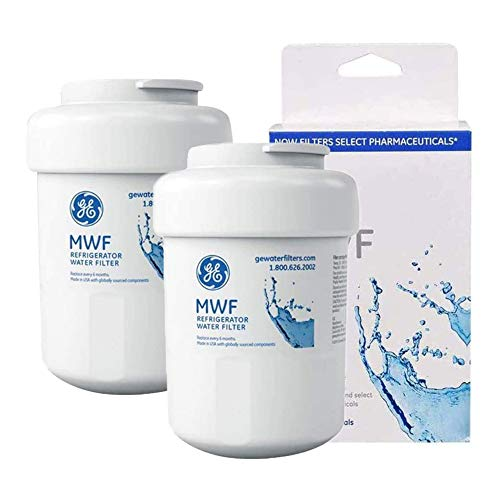 Refrigerator Water Filter replacement, Water Filter Cartridge for GE MWF, MWFP,GE MWF GWF GWF01 GWF06 HWF HWFA, FMG-1, FMG, Best BF-G01 WFC1201, PC75009, RWF1060,SMART WATER 2 pack