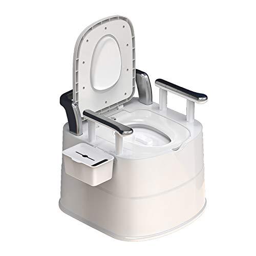 Izzya Retrete Ligero del Coche del Asiento Diseño Antideslizante Doble, WC Químico Baño Portátil Retirable Interior al Aire Libre, para El Baño de la Mujer Embarazada Mayor