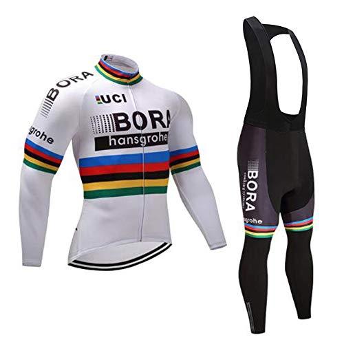 Autunno/Primavera Abbigliamento Ciclismo Traspirante Asciugatura Veloce Confortevole Completo MTB alla Moda, i Pantaloni + Manica Lunga Jerseys Uomo