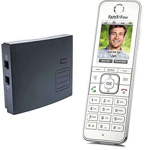 distybox 300 Telefonadapter universal Adapter für analoge schnurgebundene Telefone Fax Multifunktionsgeräte & AVM Fritz!Fon C6 DECT-Komforttelefon weiß, deutschsprachige Version