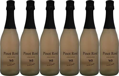 Winzer von Baden Pinot Rosé Badischer Sekt Extra Trocken (6 x 0.75 l)