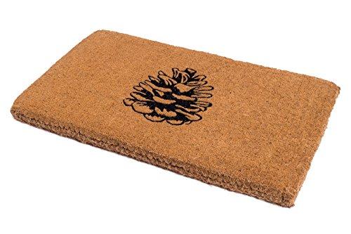 Handwoven, Extra Thick Doormat | Entryway Door mat for Patio, Front Door | Decorative All-Season | Nature Lover Pine Cone | 18' x 30' x 1.60'