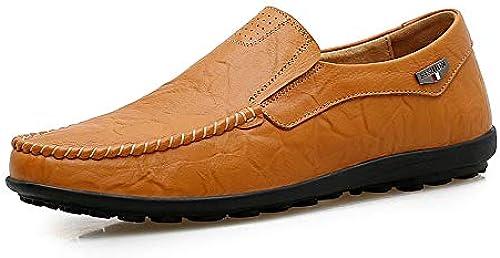 schuheDQ Herren Leder Mokassin-Gommino Low Cut Schuhe Comfort Flats Business Schuhe Atmungsaktiv Fahrende Schuhe Loafer Stiefelschuhe