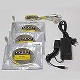 Jausticab Set de iluminación LED para jaulones de cría. Elija cual Necesita en Nuestro Cuadro (Set de iluminación 3x2 Completo)