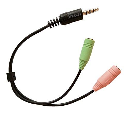 Iienza Ersatz-Adapter für Logitech G230 G430 Stereo-Gaming-Headset (und andere PC-Headsets) auf Xbox One, PS4 und Smartphone-Adapter (3,5 mm männlich)