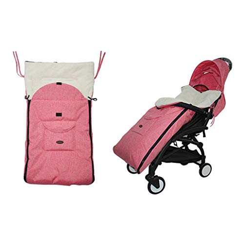 WE-WHLL Saco para pies Universal para bebé Cozy Toes Delantal Liner Buggy Cochecito para niños pequeños Mezclas de algodón Cochecito Bolsa de Dormir Saco para pies Invierno Cálido 0-3T-Pink